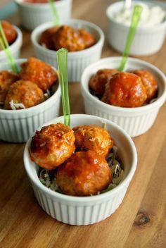 Buffalo Style Turkey Meatballs