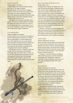Dwarven Magic Weapons