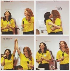 Awesome Lana and Bex at the EverAfterCon in Rio de Janeiro Brazil Sunday 6-27-15