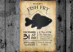 Fish Fry Invitation Printable Party Invitation on Etsy, $12.00