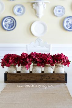 Valentines Table Centerpiece Planter Box With 5 di KatesLittleShop