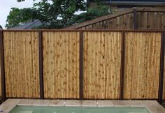 privacy fence ideas bamboo fence panels outdoor swimming pool - All About Bamboo Bamboo, Bamboo Panels, Bamboo Wall, Fence Panels, Bamboo House, Bamboo Ideas, Black Bamboo, Bamboo Garden Fences, Decorative Garden Fencing