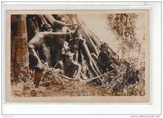 BRESIL - ESPIRITO SANTO - MINAS - Indios Botocudos: groupe d'archers - très bon état