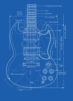 Gibson SG Guitar Blueprint - by Stringjoy Custom Guitar & Bass… Sg Guitar, Guitar Diy, Music Guitar, Guitar Shop, Cool Guitar, Playing Guitar, Guitar Parts, Acoustic Guitar, Instruments