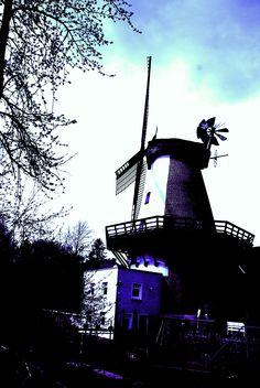 Wind- und Wassermühle Lahde, Klostermühle, 2-stöckiger Galerie-Holländer von 1876