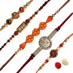 5 Unique Designer Rakhi Set