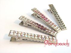 DIY Swarovski Rhinestones Hair Clip DIY Hair Accessories DIY Hair Clips DIY Barrettes