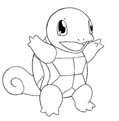 Today we're going to be drawing one of everyone's favorite Pokemon, Squirtle. Half squirrel, half turtle, he's kind of a hot mess. But for anyone who doesn't live under a rock, you probably recognize him.