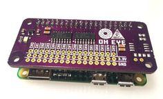 OH Eye board for the Raspberry Pi Zero - adds 16 analog inputs and 8 digital I/O lines.