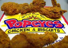 Popeyes chicken....yum
