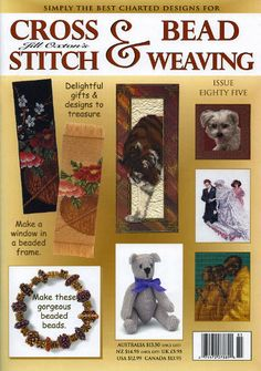 Jill Oxton's Cross Stitch & Bead Weaving Issue 85. This collectable magazine, is available from Australian Needle Arts.