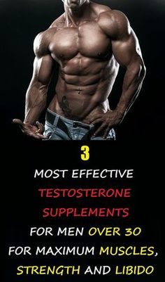 Read more about the best natural testosterone supplements for men over 30. Why you should take it? Because after 30 your T levels drop every year by 2% so it's hard to build muscles and regain libido.