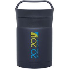 12 oz double wall 18/8 ss vacuum insulated thermal jar with threaded 2-part lid with folding spoon
