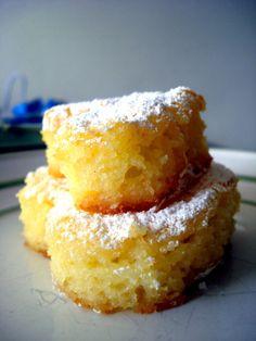 2 ingredient lemon bars. Angel food cake and lemon pie filling.