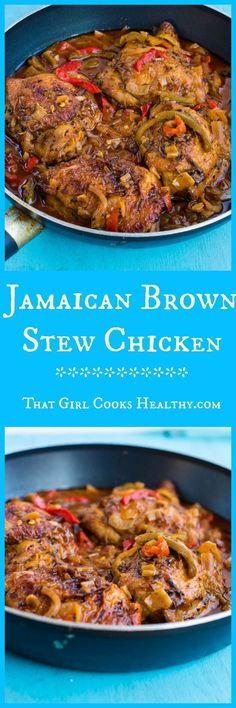 Jamaican brown stew chicken Jamaican brown stew chicken - paleo and gluten free Come and see our new website at !Jamaican brown stew chicken - paleo and gluten free Come and see our new website at ! Jamaican Cuisine, Jamaican Dishes, Jamaican Recipes, Jamaican Oxtail, Carribean Food, Caribbean Recipes, Carribean Chicken, Healthy Cooking, Cooking Recipes