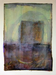 Distilled -Karen Darling. Cold wax and oil on paper