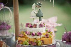 Our pretty cheese wedding cake