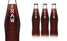 Pepsi RAW glass bottle