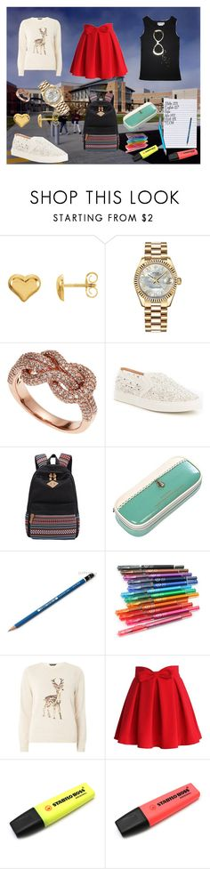 """Adrienne_6"" by ignis-p on Polyvore featuring moda, Rolex, Effy Jewelry, Antonio Melani, HI-TEC, Dorothy Perkins, Chicwish y Stabilo"