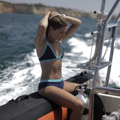Features A sporty take on the iconic triangle bikini   No clasps or ties…
