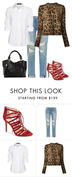 """""""Untitled #344"""" by pinkpeony21 ❤ liked on Polyvore featuring Vince Camuto, Frame Denim, Steffen Schraut and Dolce&Gabbana"""