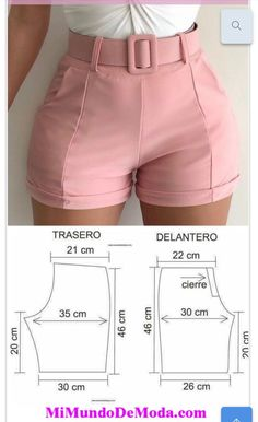 Sewing Shorts, Sewing Blouses, Diy Shorts, Baby Girl Dress Patterns, Dress Sewing Patterns, Clothing Patterns, Clothing Hacks, Pants Pattern, Fashion Sewing