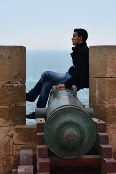 Relaxing on the sea walls in Essaouira