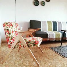 fotel 300-177 z PRL w aranżacji :-) polski vintage na 100%