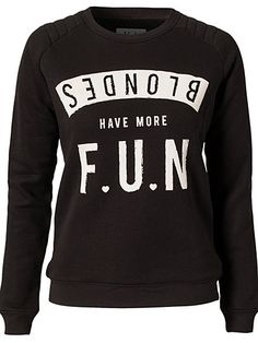 Blondes Have More Fun Sweater - Zoe Karssen - Black - Jumpers & Cardigans - Clothing - Women - Nelly.com