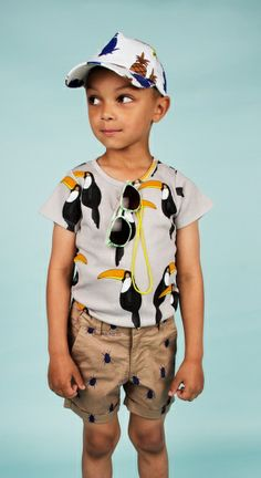 Mini Rodini SS14 Mini Zoologist Toycan Print T Shirt Top