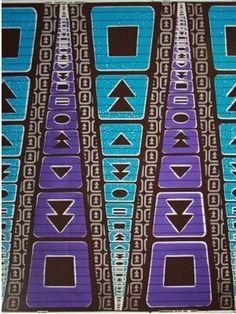 Tech buttons wax print - Africa
