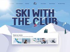 Ski Club, Ski Sport, Sports Website, Ui Web, Design Research, Longboarding, Ui Ux Design, Cool Words, Skiing