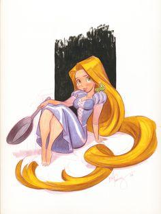 rapunzel  by bill presing