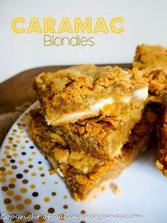 Caramac Blondies - Baking in Pyjamas Brownie Recipes, Cupcake Recipes, Baking Recipes, Cupcake Cakes, Dessert Recipes, Cupcakes, Caramac Cake, Alice Delice, Biscuit Bar