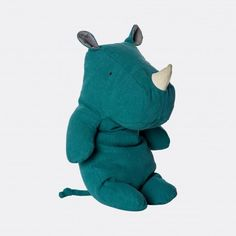 Adapt this cuddly safari friend from Danish toy maker, Maileg! With its soft body and beautiful color, Maileg Rhino will be cuddle and loved for a long time. Safari, Baby Rhino, Toddler Gifts, Textiles, Classic Toys, Softies, Doll Toys, Cuddling, Kids Toys