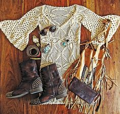 ☯☮ॐ American Hippie Bohemian Boho Style ~ Festival Outfit