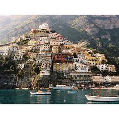 Amalfi Coast, Italy -- Colorful homes cling to the cliffside in Positano, a town along Italy's Amalfi Coast - donpepino.com #Italy #beautiful #architecture