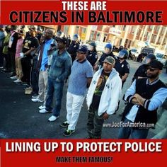 Citizens lining up to protect Baltimore Police. This is why police do what they do every day! Kudos to these fine citizens! We Are The World, In This World, Baltimore Police, Baltimore Riots, Baltimore Maryland, Police Life, Faith In Humanity Restored, Thing 1, Real Hero