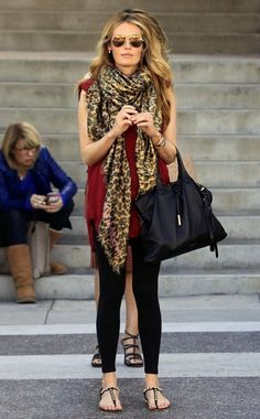Cat Deeley Photos Photos: Cat Deeley Goes Out in Beverly Hills Preppy Style, Style Me, Street Look, Street Style, Old Friend Slippers, Cat Deeley, Scarf Vest, Florida Fashion, Autumn Clothes