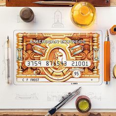 I keep working on the card designs commissioned by @americanexpress, I'd like to share the Gold Card design this time