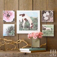 Love dreamy, stylized wall art? Create an affordable version of pricey canvas prints using transparencies and a gel medium.