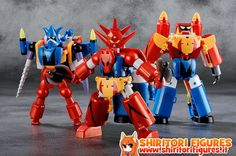 Getter Robo G Action Figure 3-Pack Dynamic Change Getter Robo G 13 cm ( FREEing )