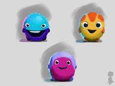 Dash coloursketches #Gamedesign #MomongaPinballAdventures #Conceptart #characterdesign