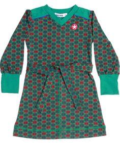 Kik-Kid lief groene jurk met bloemetjes print. kik-kid.nl.emilea.be