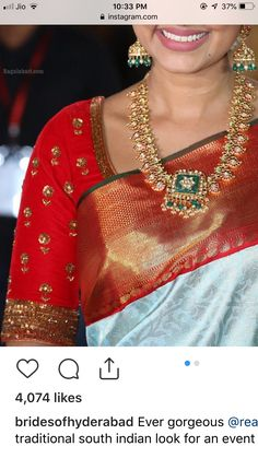 Stylish Blouse Design, Fancy Blouse Designs, Bridal Blouse Designs, Maggam Work Designs, Pattu Saree Blouse Designs, Indian Designer Wear, Jewels, Mango Mala, Maggam Works