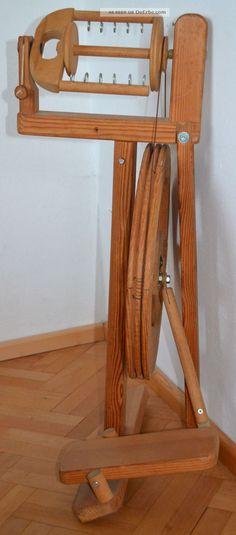 Spinnrad Von Lukow In Maitenbeth,  Kugelgelagert,  Massivholz,  Modern,  Klappbar Alte Berufe Bild 6