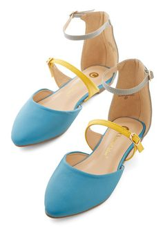 Sunny Honey Flat. Shine a light on your cheery style by slipping into these ankle-strap flats! #blueNaN