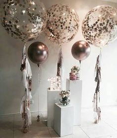 Image result for rose gold balloon bouquet