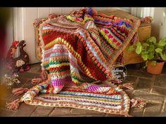 Crochet Blanket (The Magic of All) Parte 2 - Crochet - Crochet Afghans, Freeform Crochet, Tunisian Crochet, Crochet Granny, Crochet Patterns, Blanket Crochet, Love Crochet, Crochet Baby, Knit Crochet