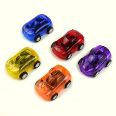 Toys & Hobbies 12pcs Mini Car Model Kids Toy Whistle With Colorful Ribbon Diecast Metal Alloy Toy Car color Random